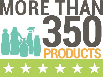 More than 350 products